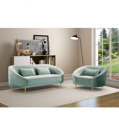 VENUS Velvet Fabric 1 Seater